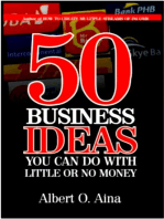 50 Business Ideas You Can Do With Little Or No Money