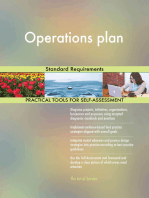 Operations plan Standard Requirements