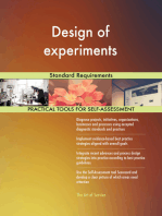 Design of experiments Standard Requirements