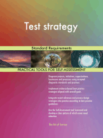 Test strategy Standard Requirements