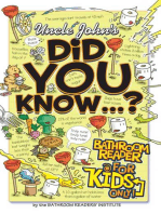 Uncle John's Did You Know? Bathroom Reader For Kids Only!