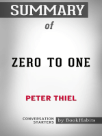 Summary of Zero to One by Peter Thiel | Conversation Starters