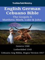 English German Cebuano Bible - The Gospels X - Matthew, Mark, Luke & John
