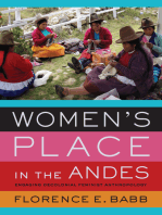 Women's Place in the Andes: Engaging Decolonial Feminist Anthropology