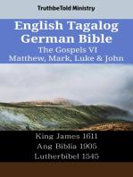 English Tagalog German Bible - The Gospels VI - Matthew, Mark, Luke & John