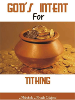 God's Intent for Tithing