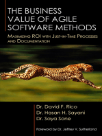 The Business Value of Agile Software Methods
