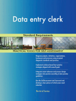 Data entry clerk Standard Requirements