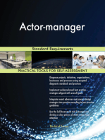 Actor-manager Standard Requirements