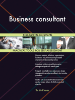 Business consultant Standard Requirements