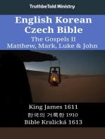 English Korean Czech Bible - The Gospels II - Matthew, Mark, Luke & John