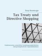 Tax Treaty und Directive Shopping