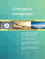 Contingency management Complete Self-Assessment Guide