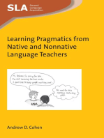 Learning Pragmatics from Native and Nonnative Language Teachers