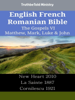 English French Romanian Bible - The Gospels VI - Matthew, Mark, Luke & John