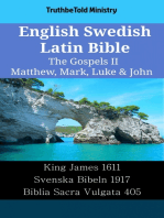 English Swedish Latin Bible - The Gospels II - Matthew, Mark, Luke & John