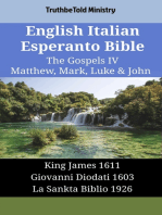 English Italian Esperanto Bible - The Gospels IV - Matthew, Mark, Luke & John