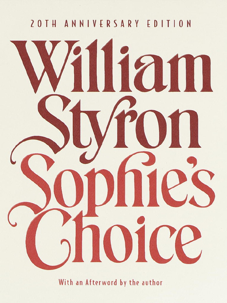 Styron: Sophie's Choice