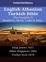 English Albanian Turkish Bible - The Gospels II - Matthew, Mark, Luke & John