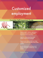 Customized employment Complete Self-Assessment Guide