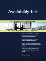 Availability Test A Clear and Concise Reference