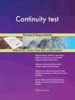 Continuity test Standard Requirements