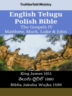 English Telugu Polish Bible - The Gospels IV - Matthew, Mark, Luke & John