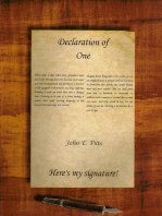 """Declaration of One """"Here's My Signature!"""""""