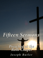 Fifteen Sermons Preached at the Rolls Chapel
