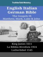 English Italian German Bible - The Gospels IX - Matthew, Mark, Luke & John