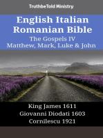 English Italian Romanian Bible - The Gospels IV - Matthew, Mark, Luke & John