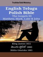 English Telugu Polish Bible - The Gospels III - Matthew, Mark, Luke & John