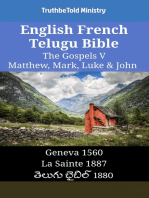 English French Telugu Bible - The Gospels V - Matthew, Mark, Luke & John