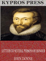 Letters to Several Persons of Honour