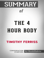 Summary of The 4 Hour Body by Timothy Ferriss | Conversation Starters