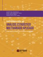 Introducción al análisis estadístico multivariado aplicado: Experiencia y casos en el Caribe colombiano