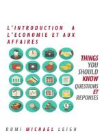 Introduction à L'Economie et Aux Affaires