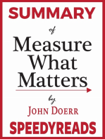 Summary of Measure What Matters by John Doerr
