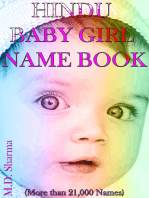Hindu Baby Girl Name Book (More Than 21,000 Names)