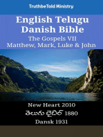 English Telugu Danish Bible - The Gospels VII - Matthew, Mark, Luke & John