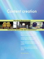 Content creation Standard Requirements