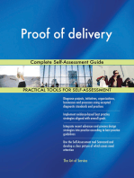 Proof of delivery Complete Self-Assessment Guide