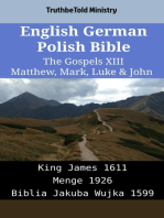 English German Polish Bible - The Gospels XIII - Matthew, Mark, Luke & John