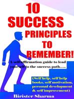 10 Success Principles To Remember