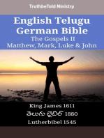 English Telugu German Bible - The Gospels II - Matthew, Mark, Luke & John
