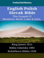 English Polish Slovak Bible - The Gospels II - Matthew, Mark, Luke & John