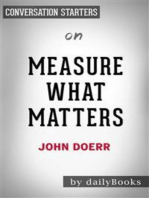 Measure What Matters: by John Doerr   Conversation Starters