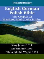 English German Polish Bible - The Gospels XI - Matthew, Mark, Luke & John