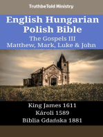 English Hungarian Polish Bible - The Gospels III - Matthew, Mark, Luke & John