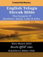 English Telugu Slovak Bible - The Gospels IV - Matthew, Mark, Luke & John